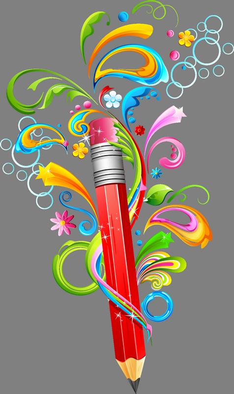 Crayons clipart label. Ecole scrap couleurs r