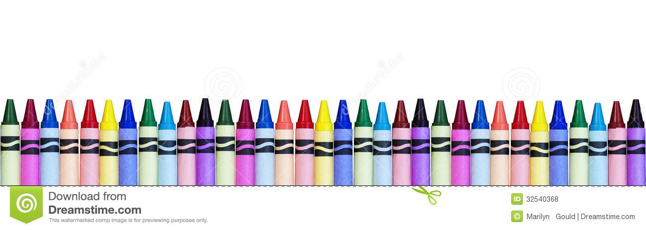 Crayon border free download. Crayons clipart banner