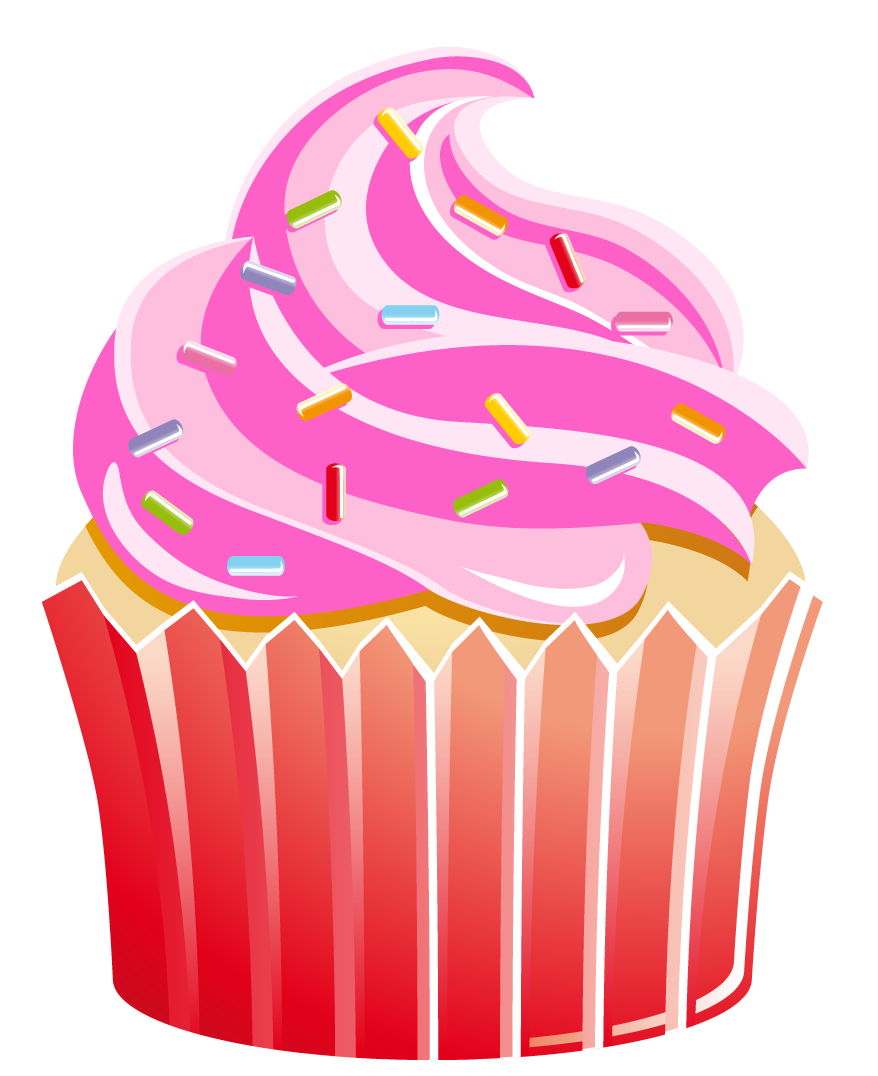 Im genes de cupcakes. Clipart cake whimsical