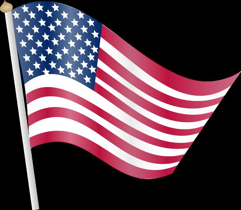 American flag cute . Square clipart pennant