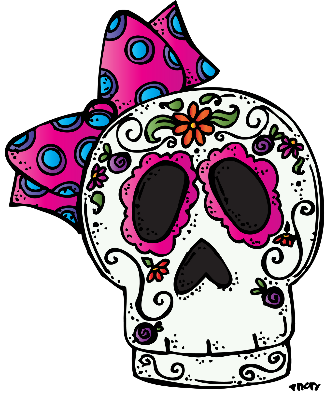 collection of dia. Clipart skeleton day the dead