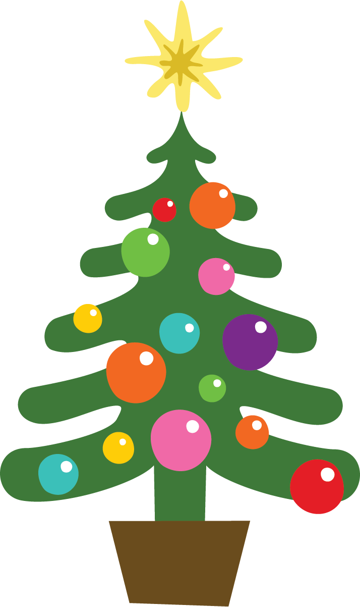December holidays tree clip. Hamster clipart christmas