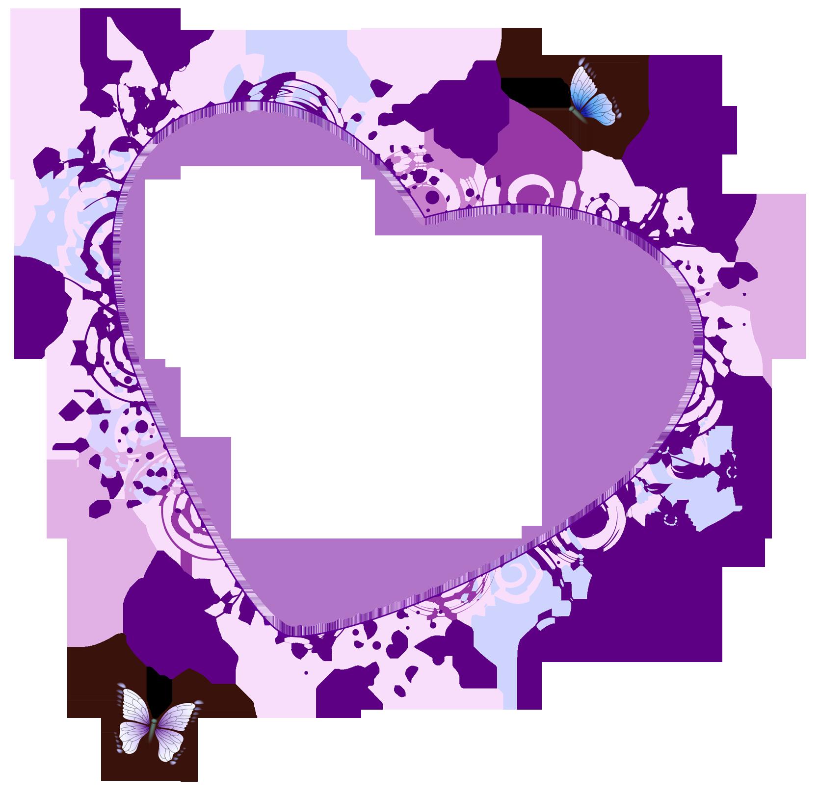Purple heart borders and. Diaper clipart border