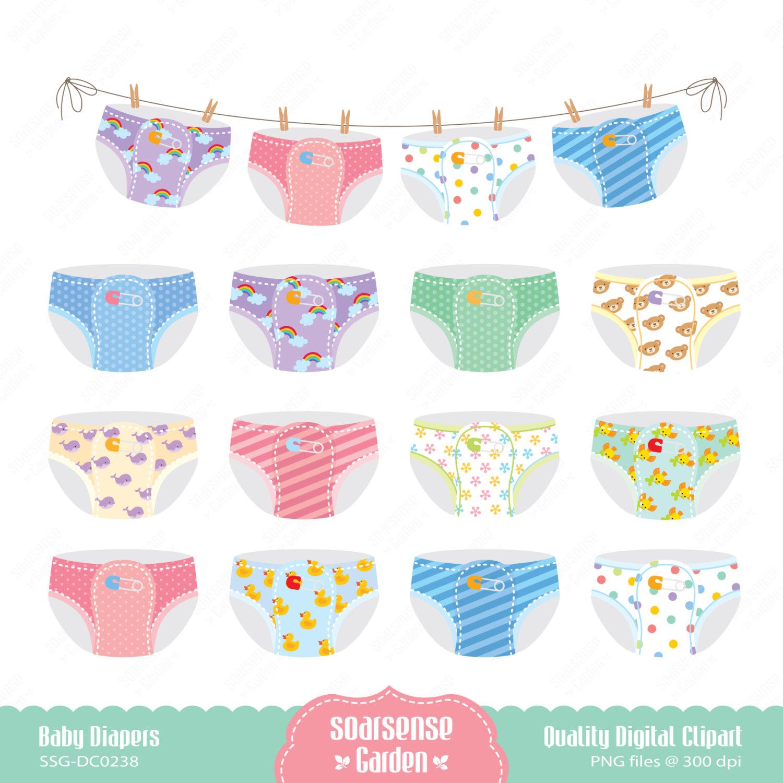 Diaper clipart banner.  baby clip art