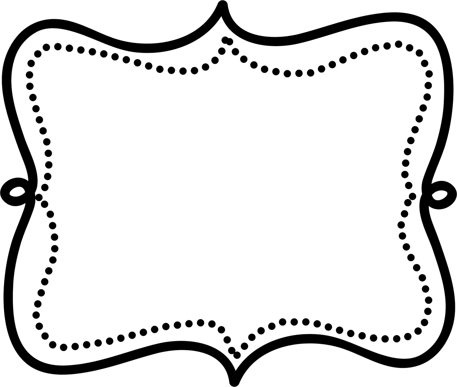 Doodle border p clipart. Label frame png