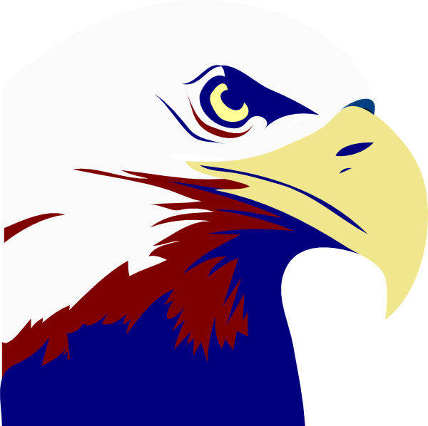 Eagle clipart simple. Red white blue clip