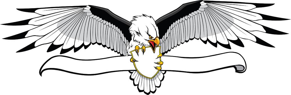 Wing clipart banner. Bald eagle clip art