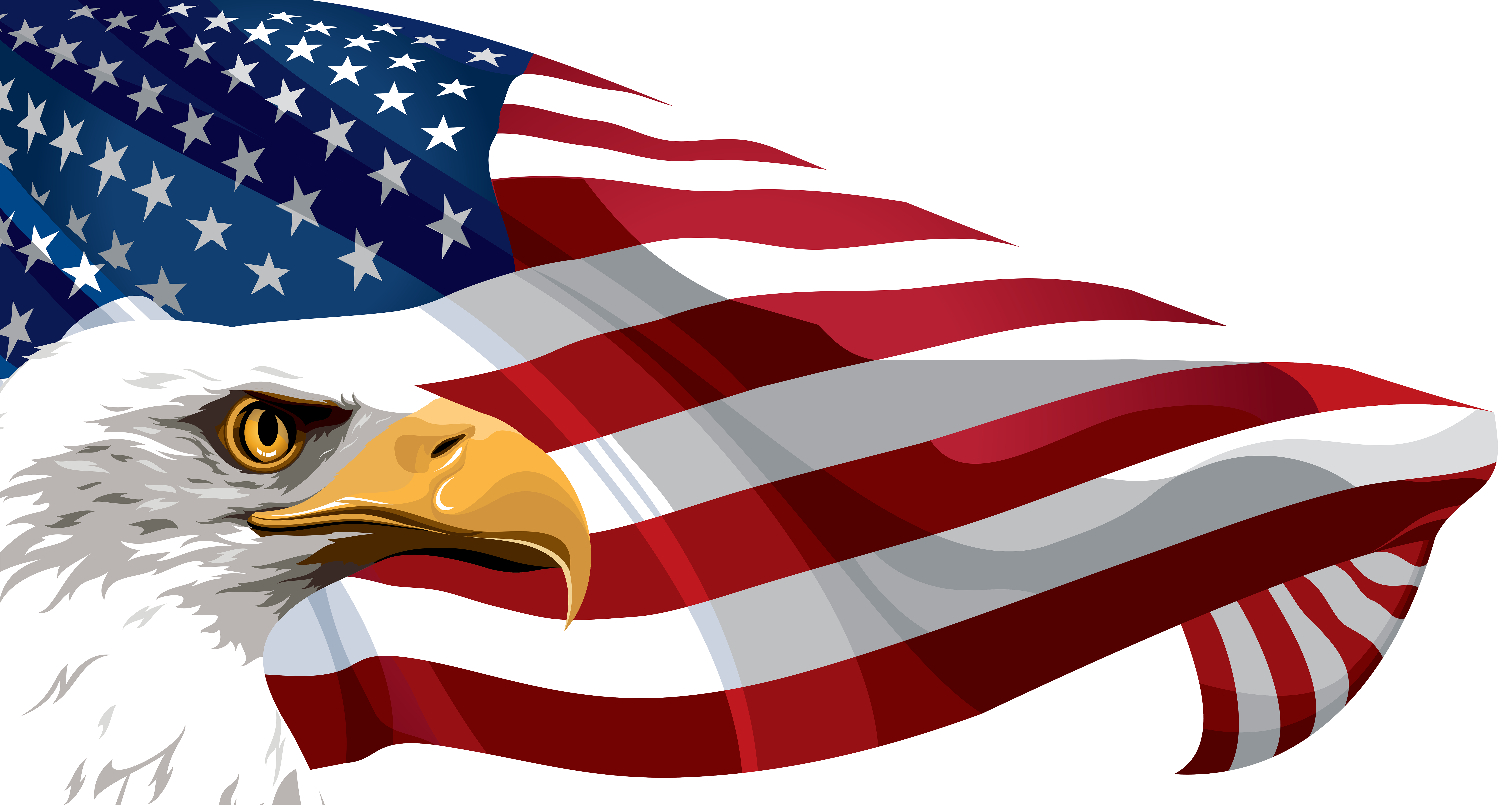 United states clipart background. American flag and eagle