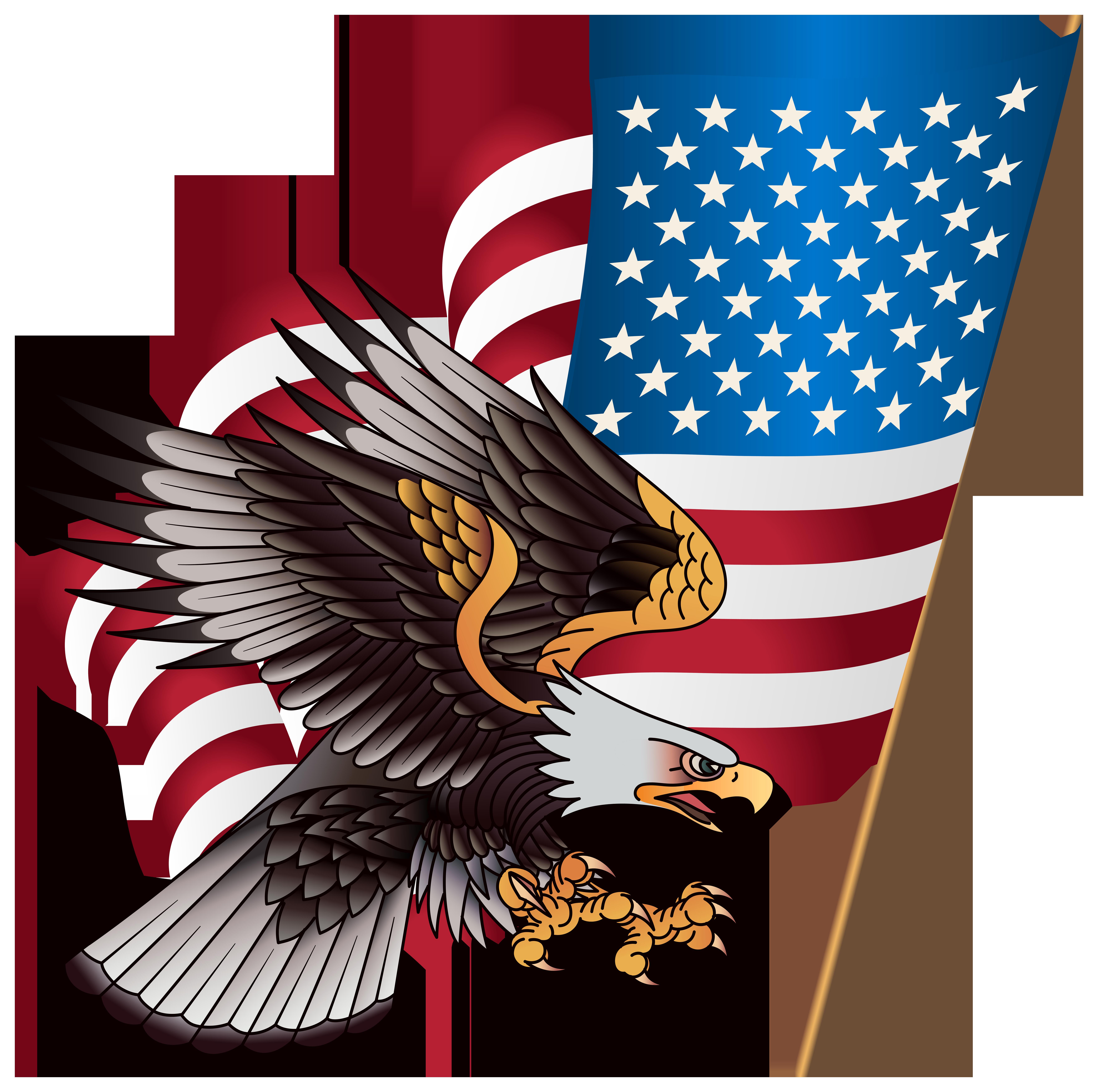 United states clipart american flag eagle, United states ...