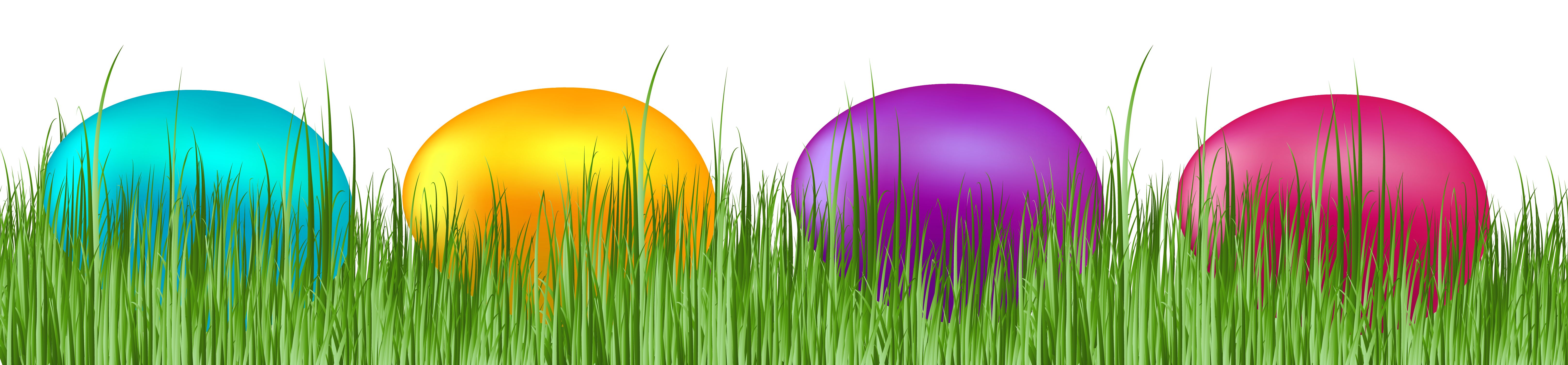 White clipart easter egg. Grass with eggs transparent