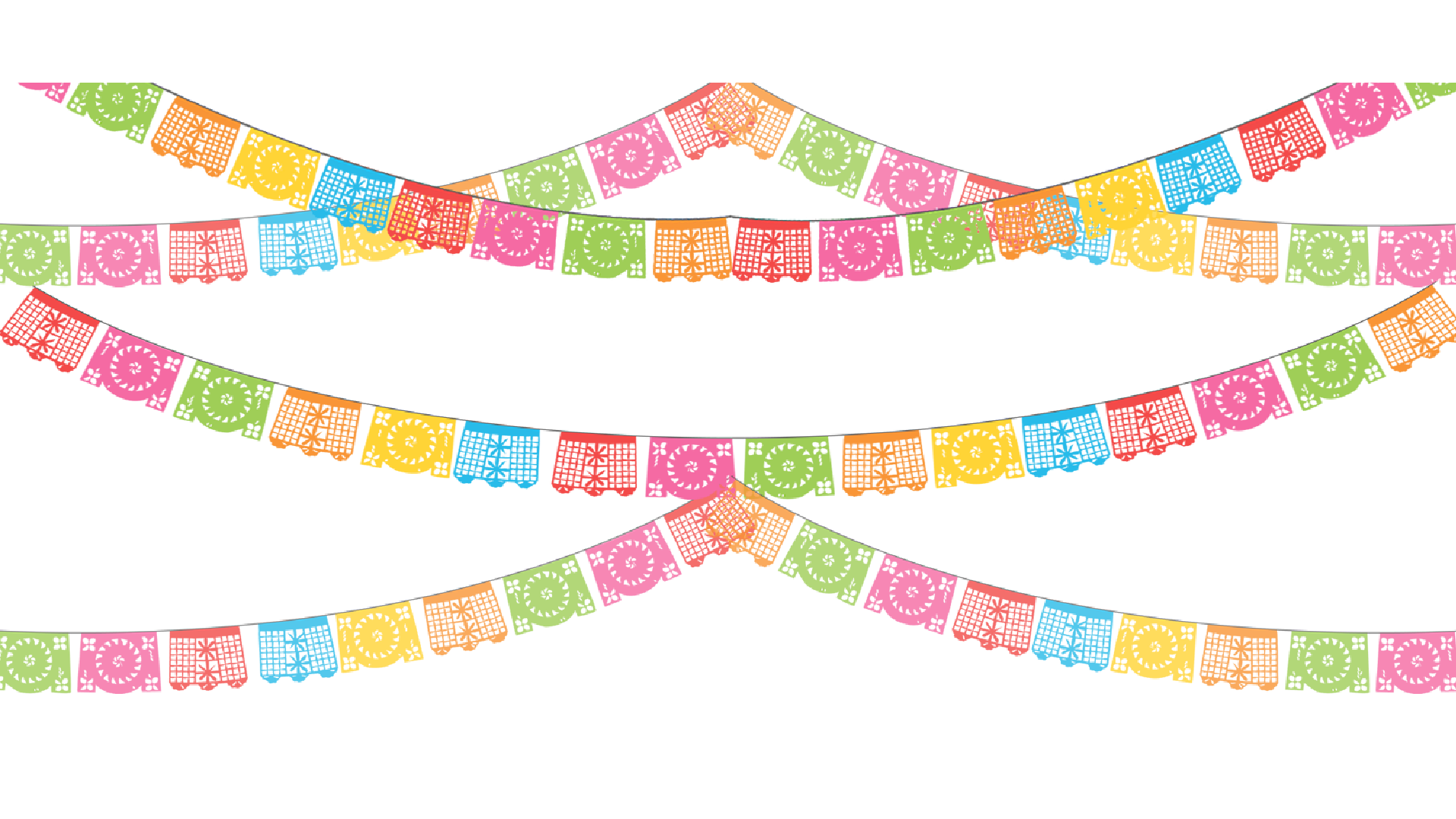 Clipart banner fiesta. Paper papel picado party