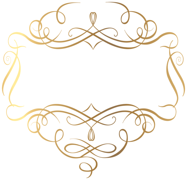 Gold decoration png transparent. E clipart ornamental