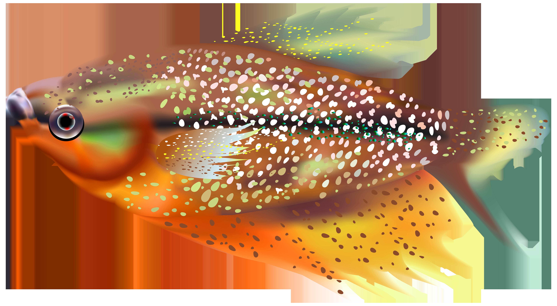 Orange transparent clip art. Fish clipart trout