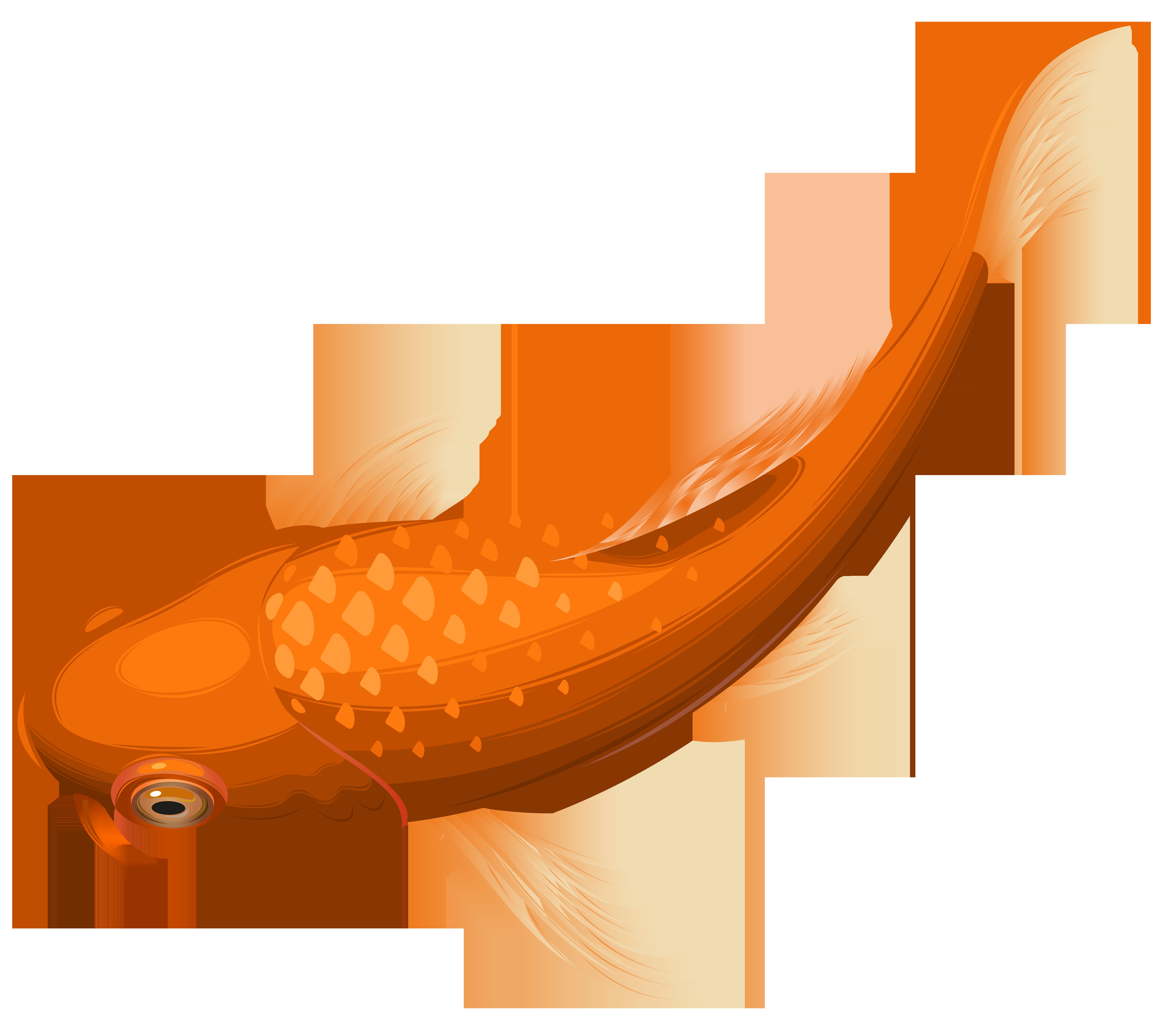 Clipart frames fish. Orange koi transparent clip