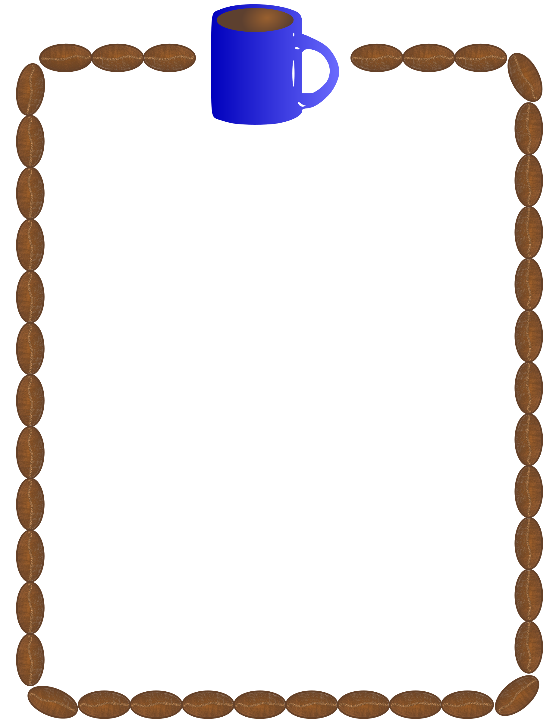 collection of border. Clipart frames coffee
