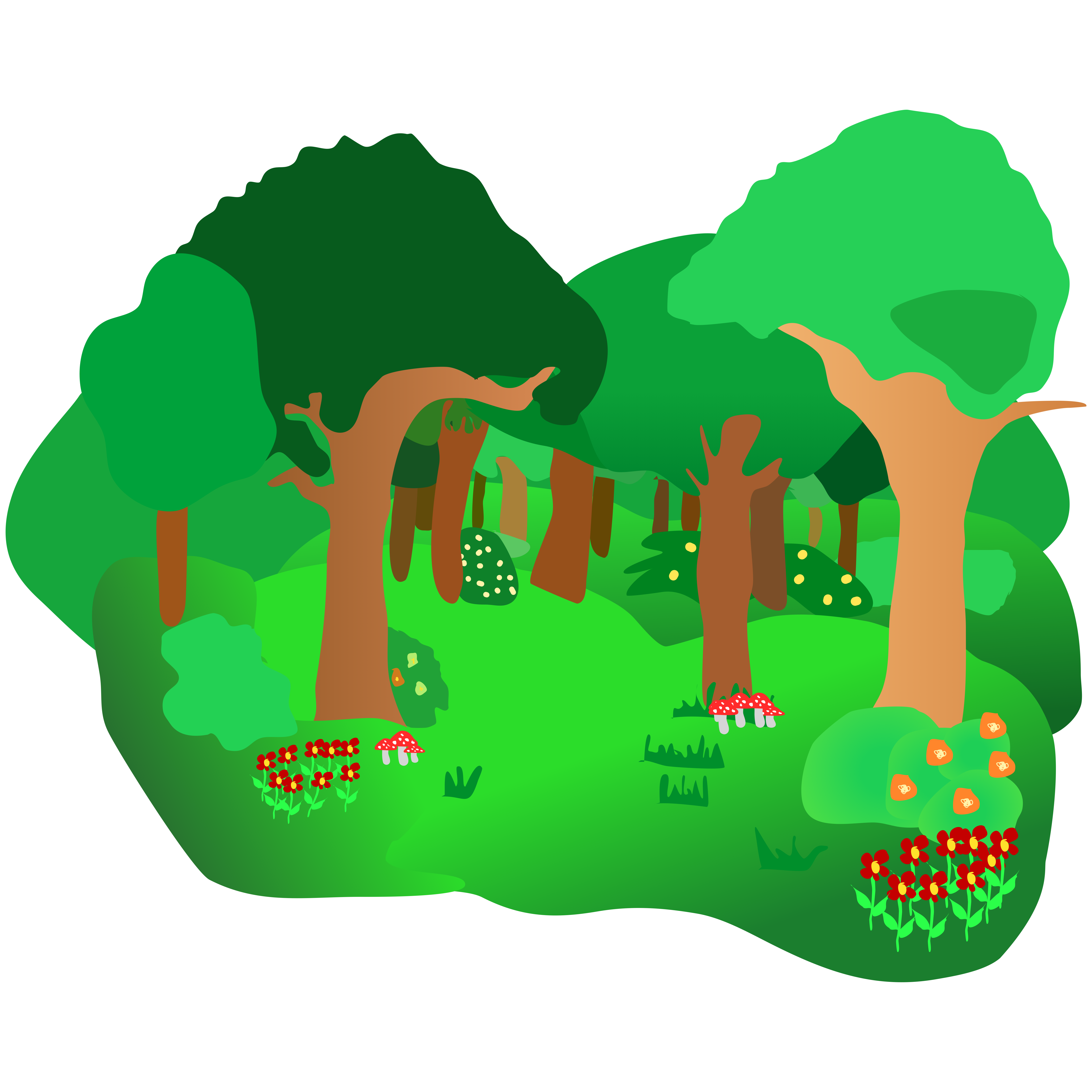 Clipart map animated.  collection of forest