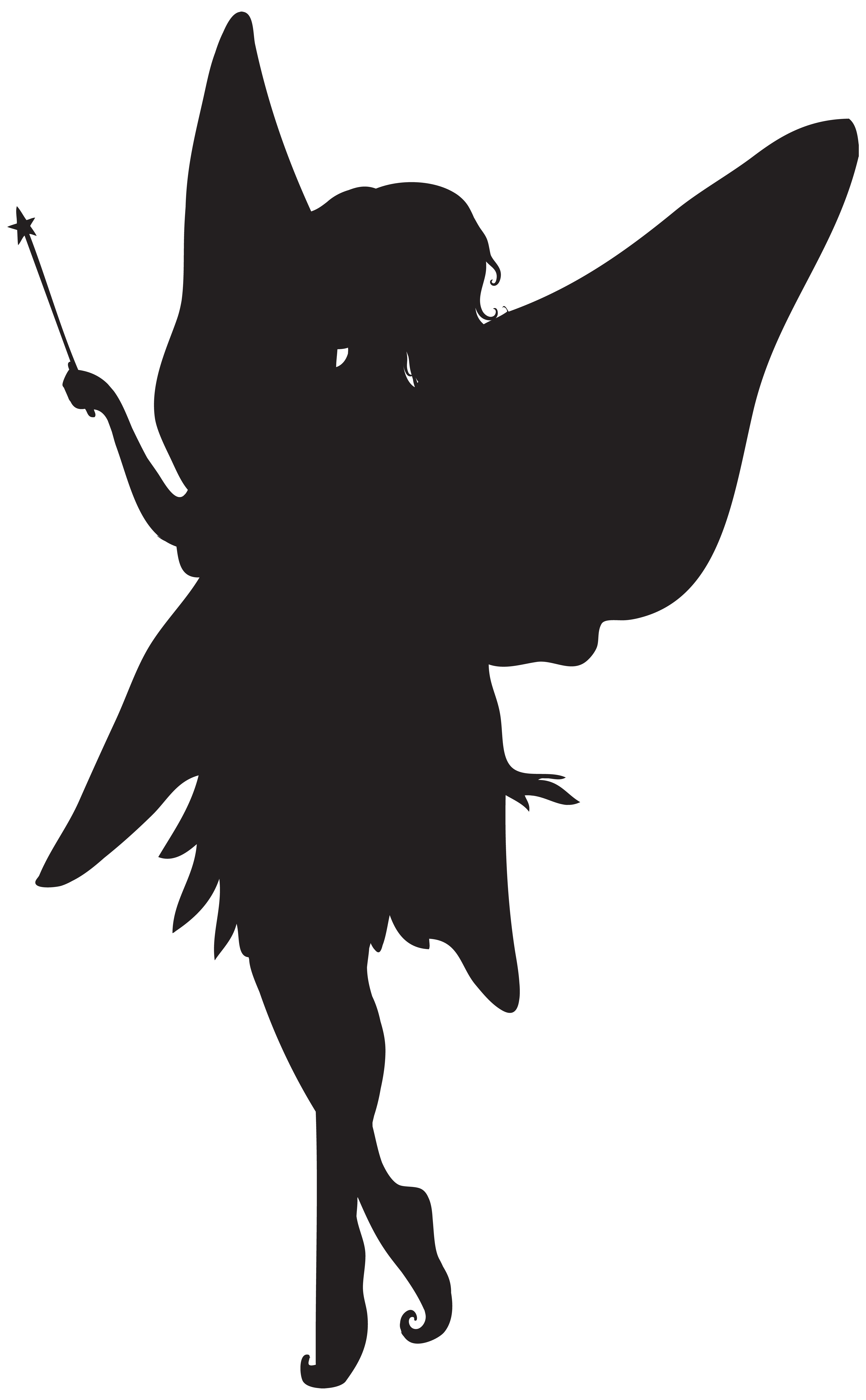 Forest silhouette png clip. Clipart easter fairy