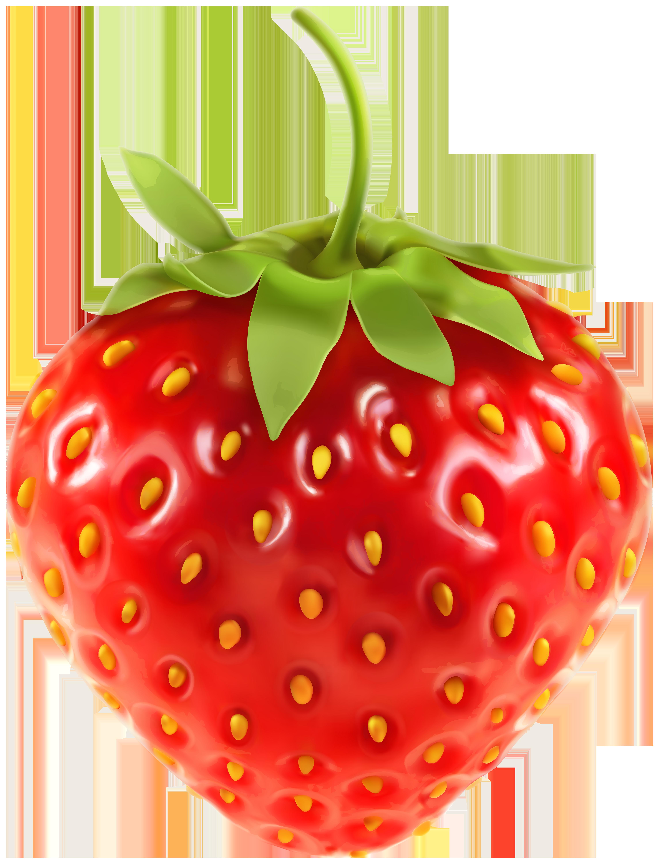 Strawberry clip art image. Fruit clipart transparent background