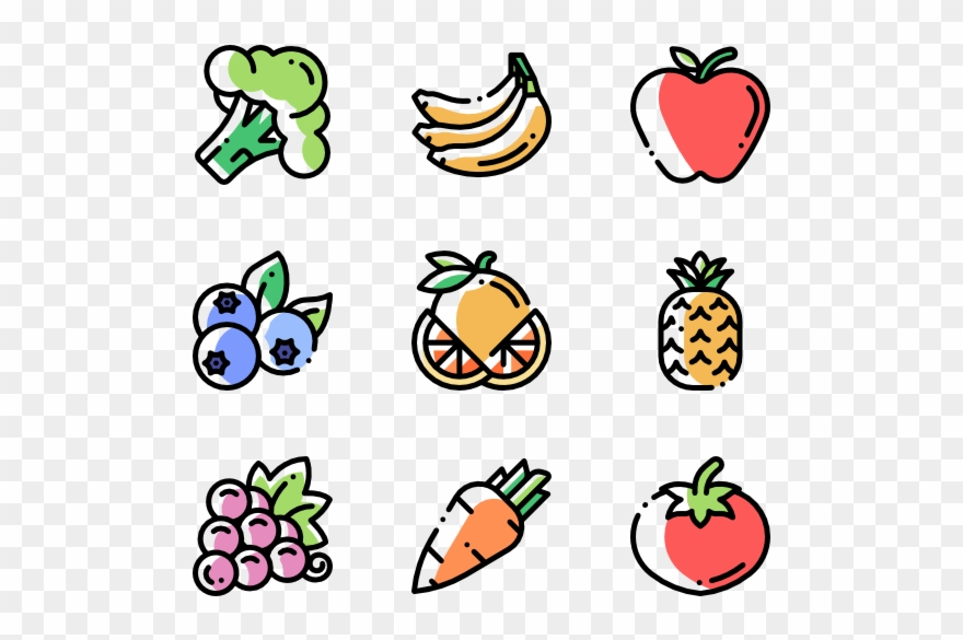 Clipart vegetables banner. Free icons fruits and