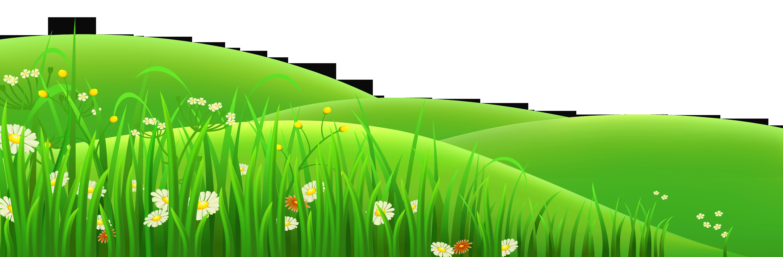 Transparent flowers and grass. Snowman clipart landscape