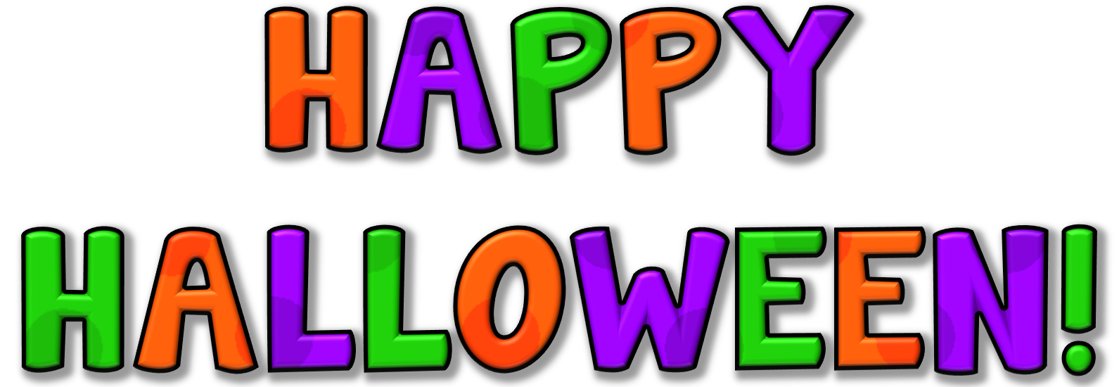 Free halloween illustrations and. Clipart happy october