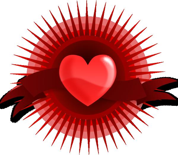 Clipart heart banner. Clip art at clker