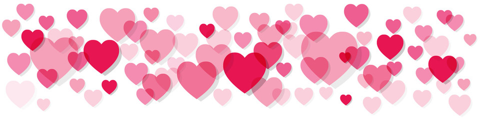 Hearts clipart banner. Heart clip art arts