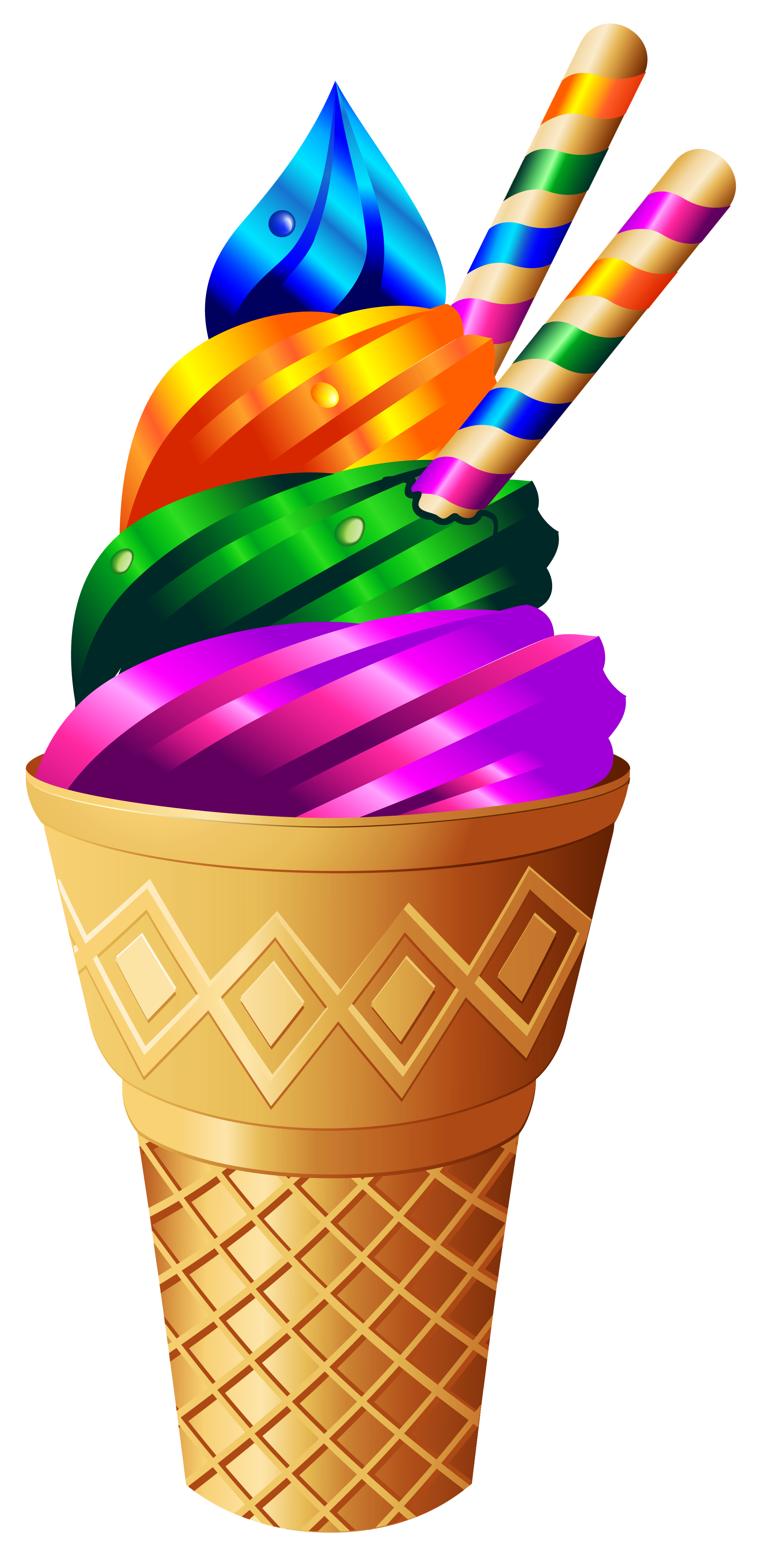Clipart hearts ice cream. Transparent rainbow png image