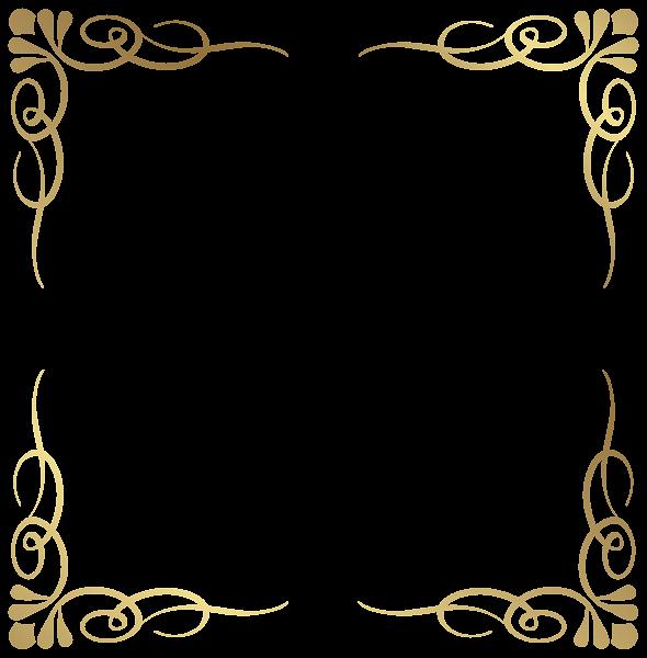 Transparent frame border png. Magic clipart decorative swirl