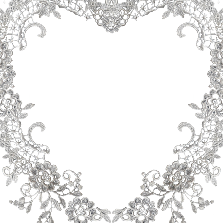 Heart border free vectors. Square clipart lace