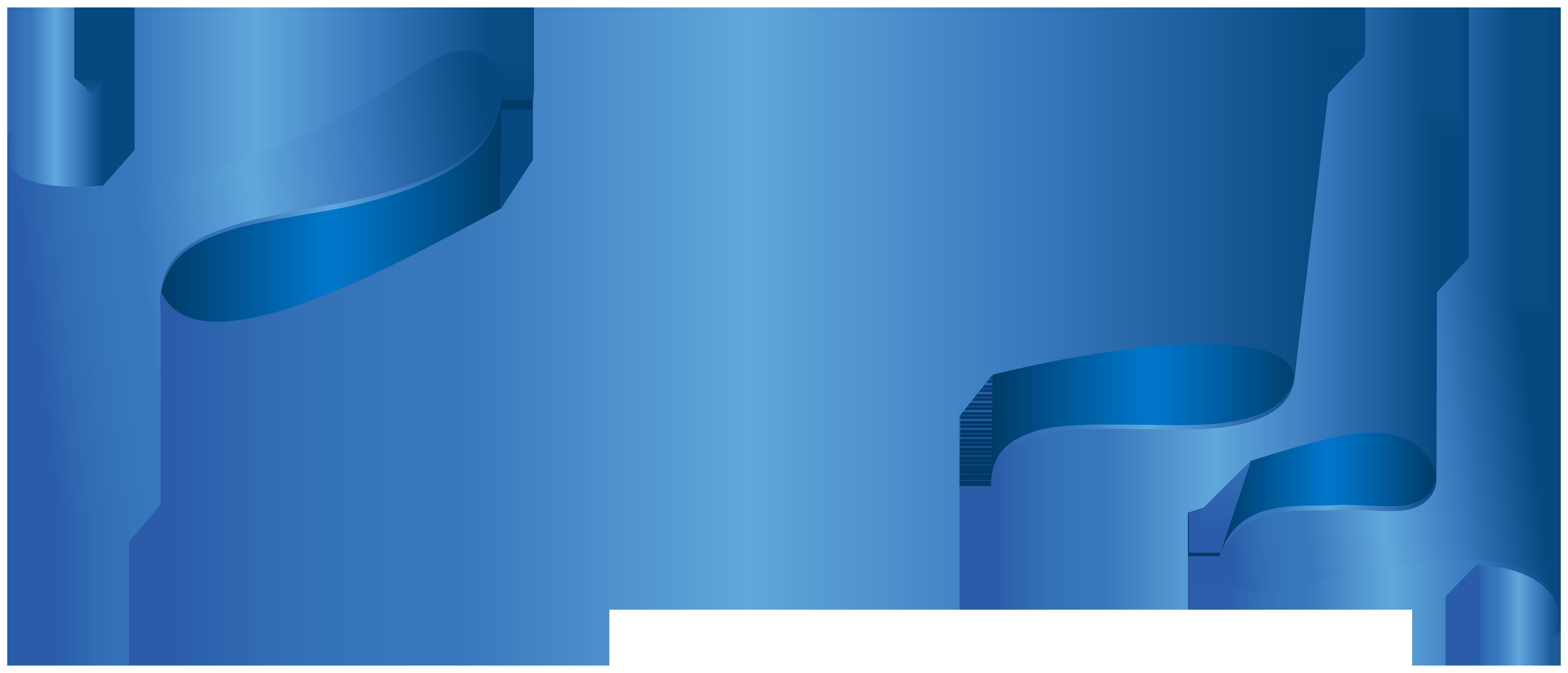 Blue deco clip art. Piano clipart banner