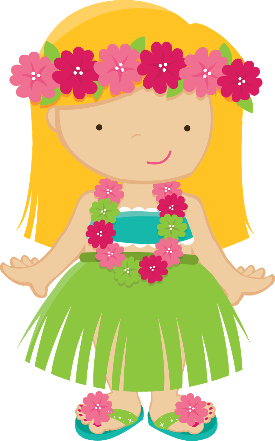 Zwd hula girl png. Number 3 clipart girly