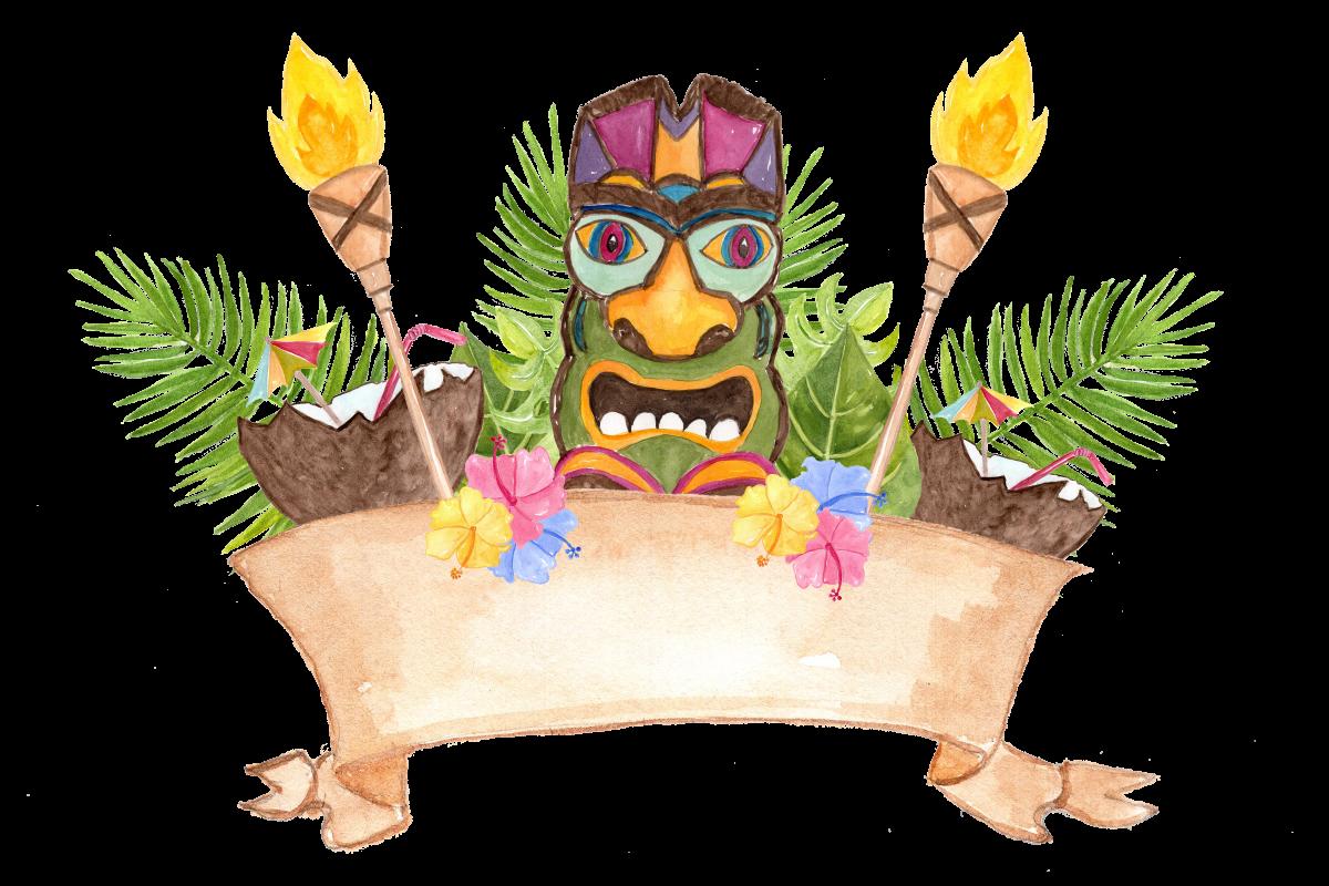 Florida clipart vacation hawaii. Hawaiian desktop backgrounds watercolor