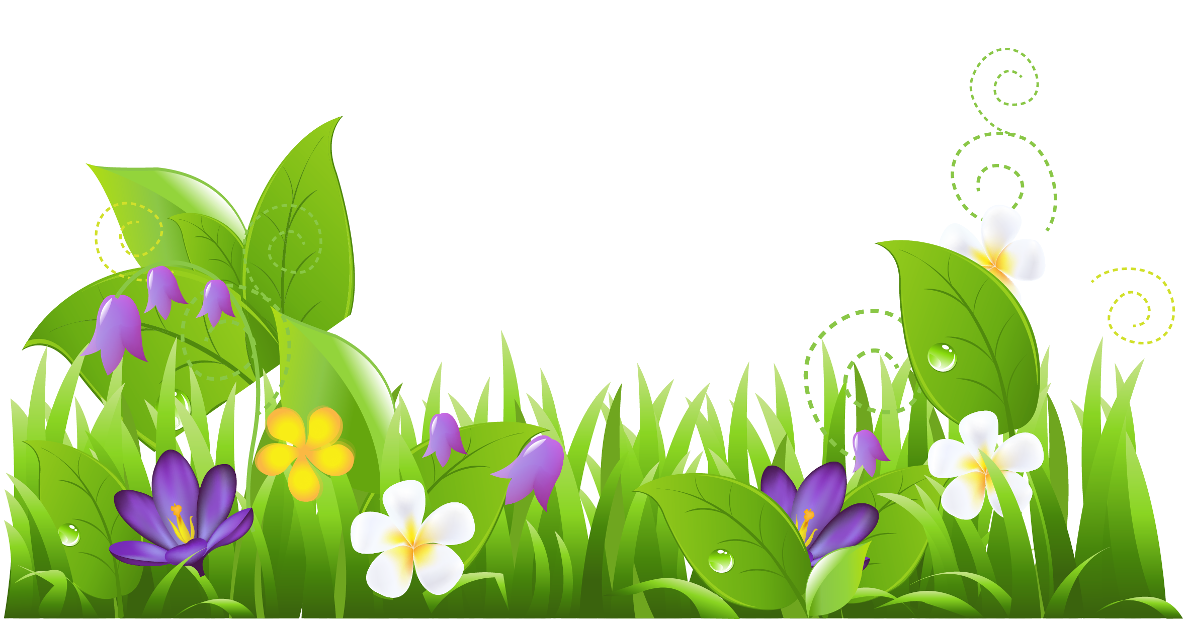 Grass and flowers png. Gardening clipart beautiful surroundings