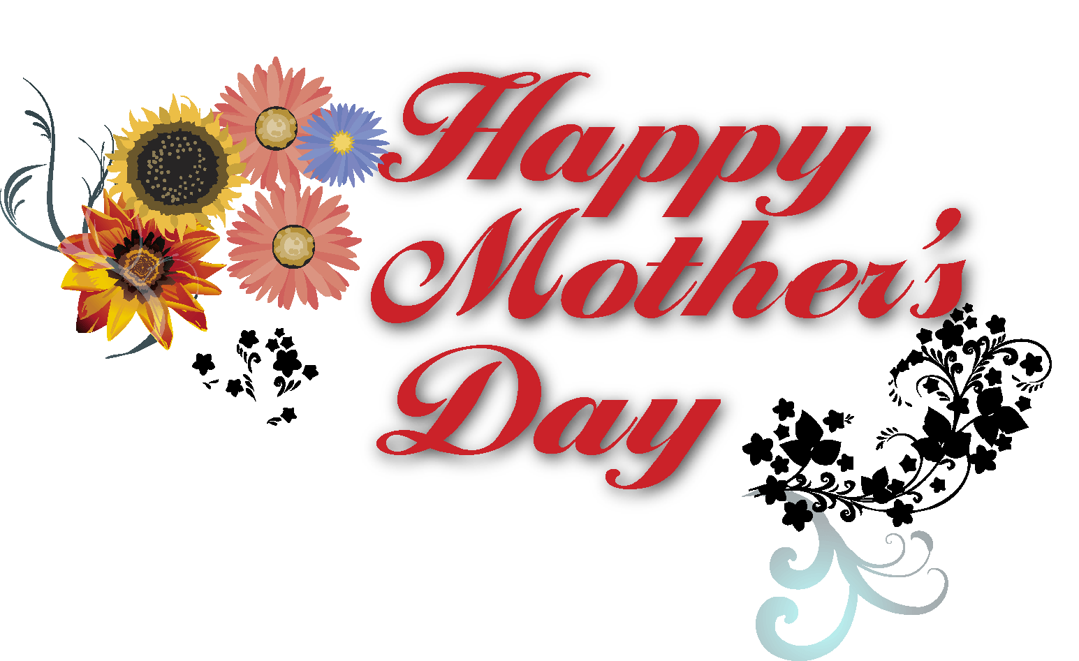 Mom clipart banner. Happy mothers day text