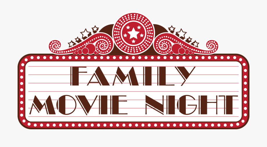 Ticket family banner . Movie clipart movie night