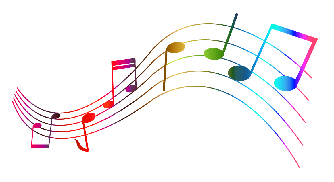 Coloring clipart music. Transparent colorful notes png
