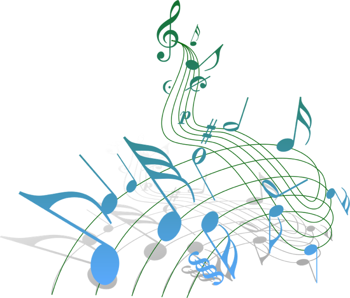 Free note staff blue. Holidays clipart music