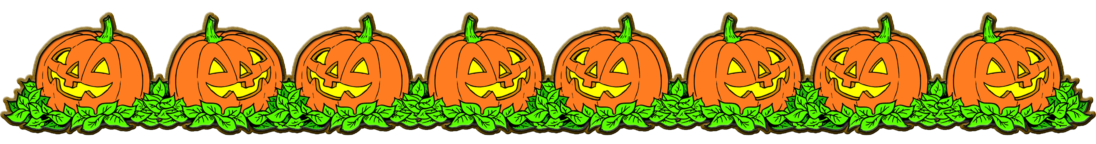 collection of october. Clipart halloween banner
