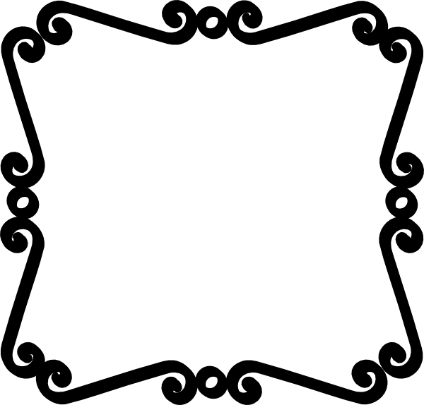 Scroll border png. White black and clip