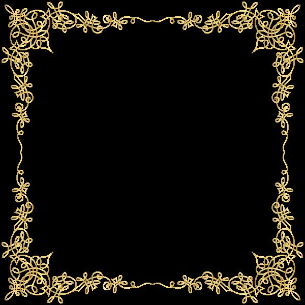 Golden transparent png image. Envelope clipart border