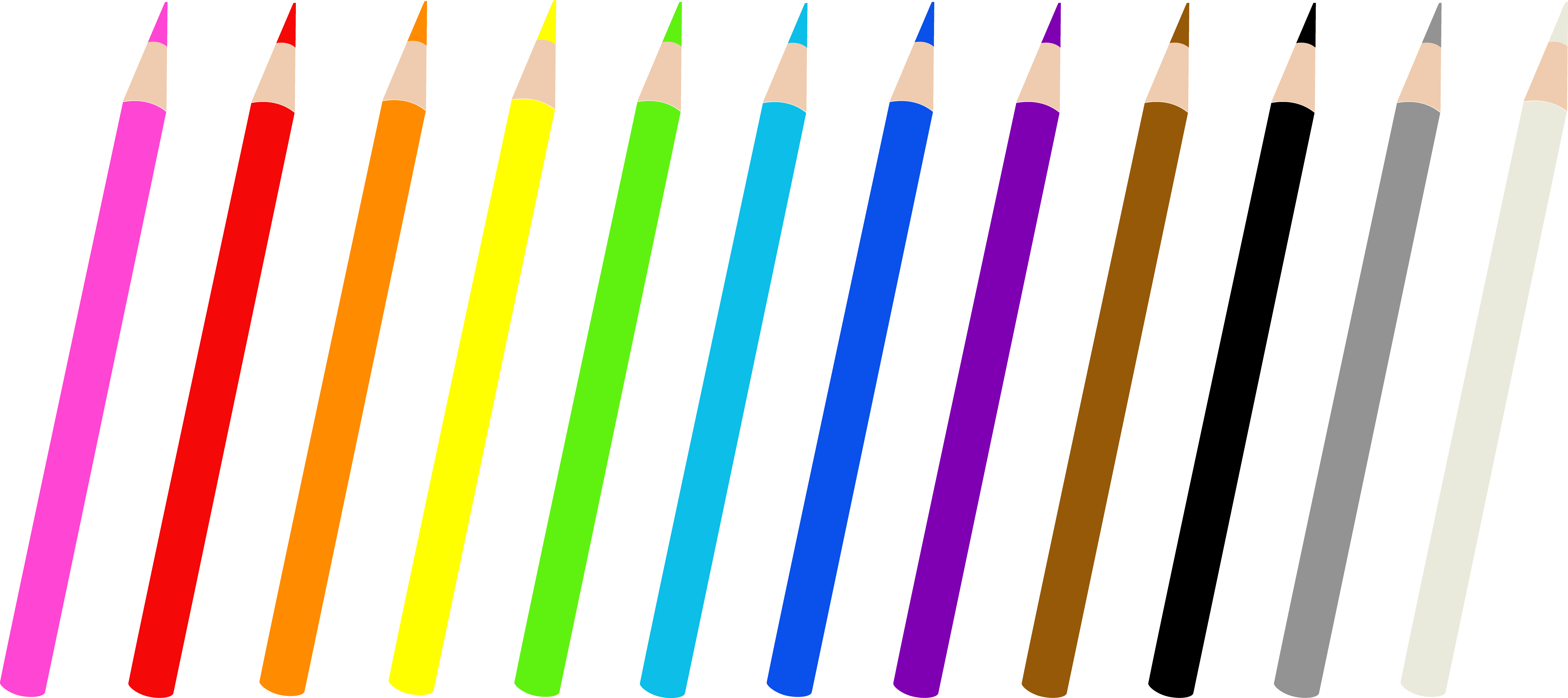 Colored pencils single . Pencil clipart write
