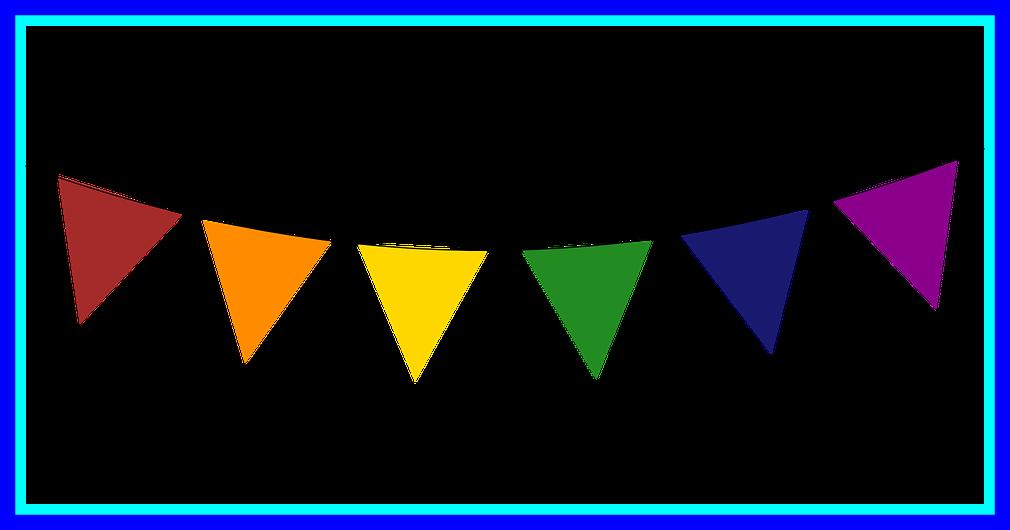 Fascinating triangle celebration pencil. Triangular clipart banner
