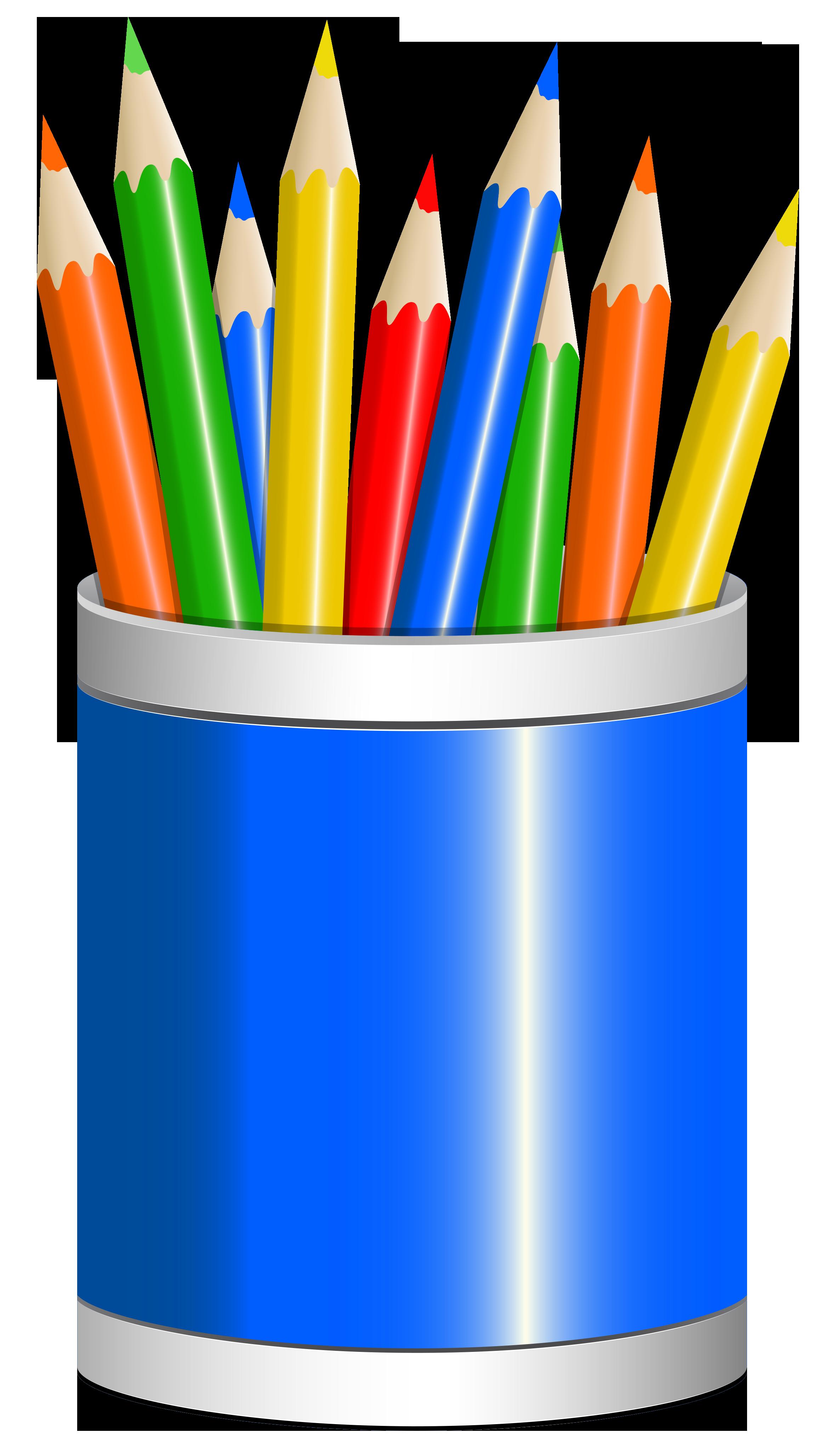 Blue cup png image. Clipart pencil school