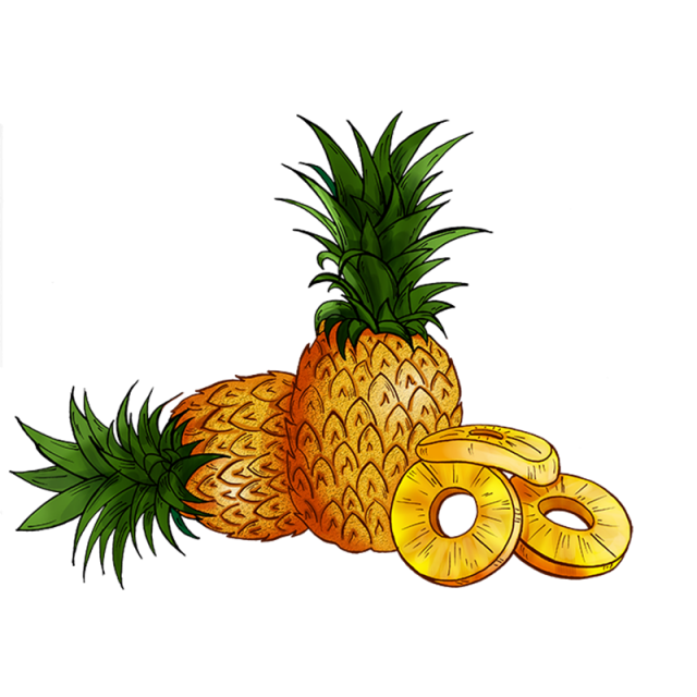 Pineapple clipart file. Food green png and