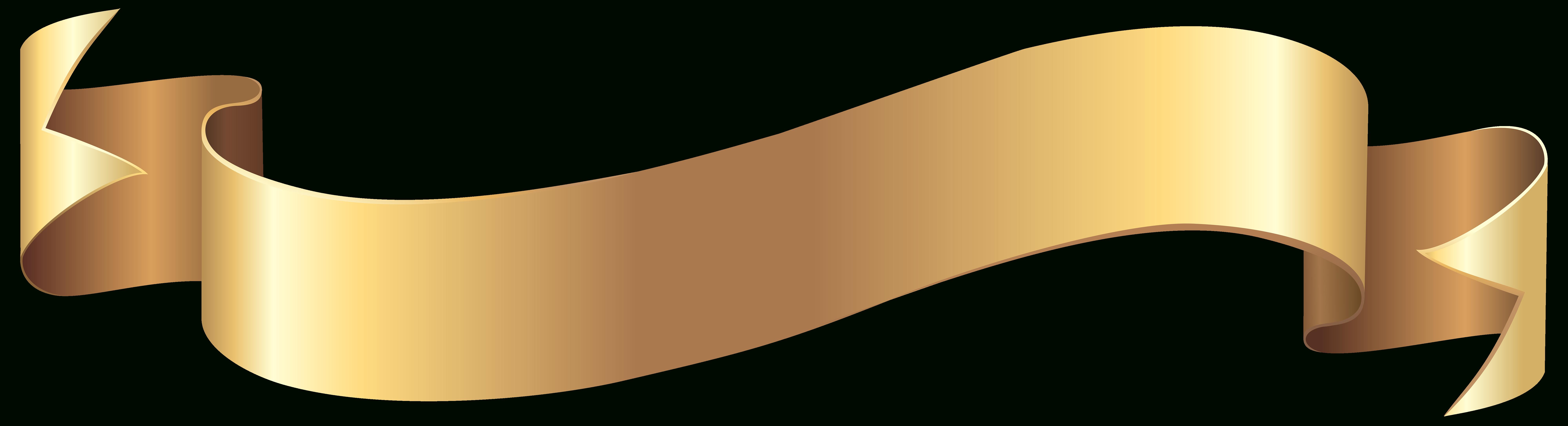 Gold clip art banners. Watermelon clipart banner