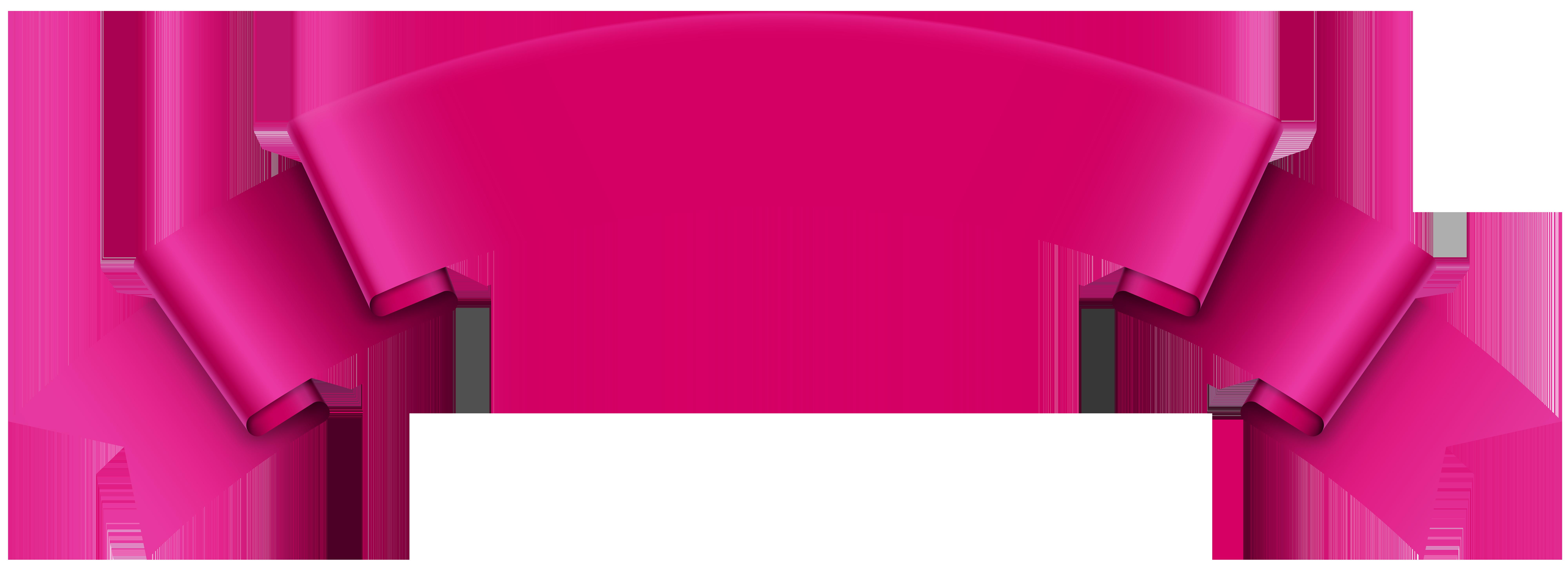 Banner transparent png clip. Medal clipart pink