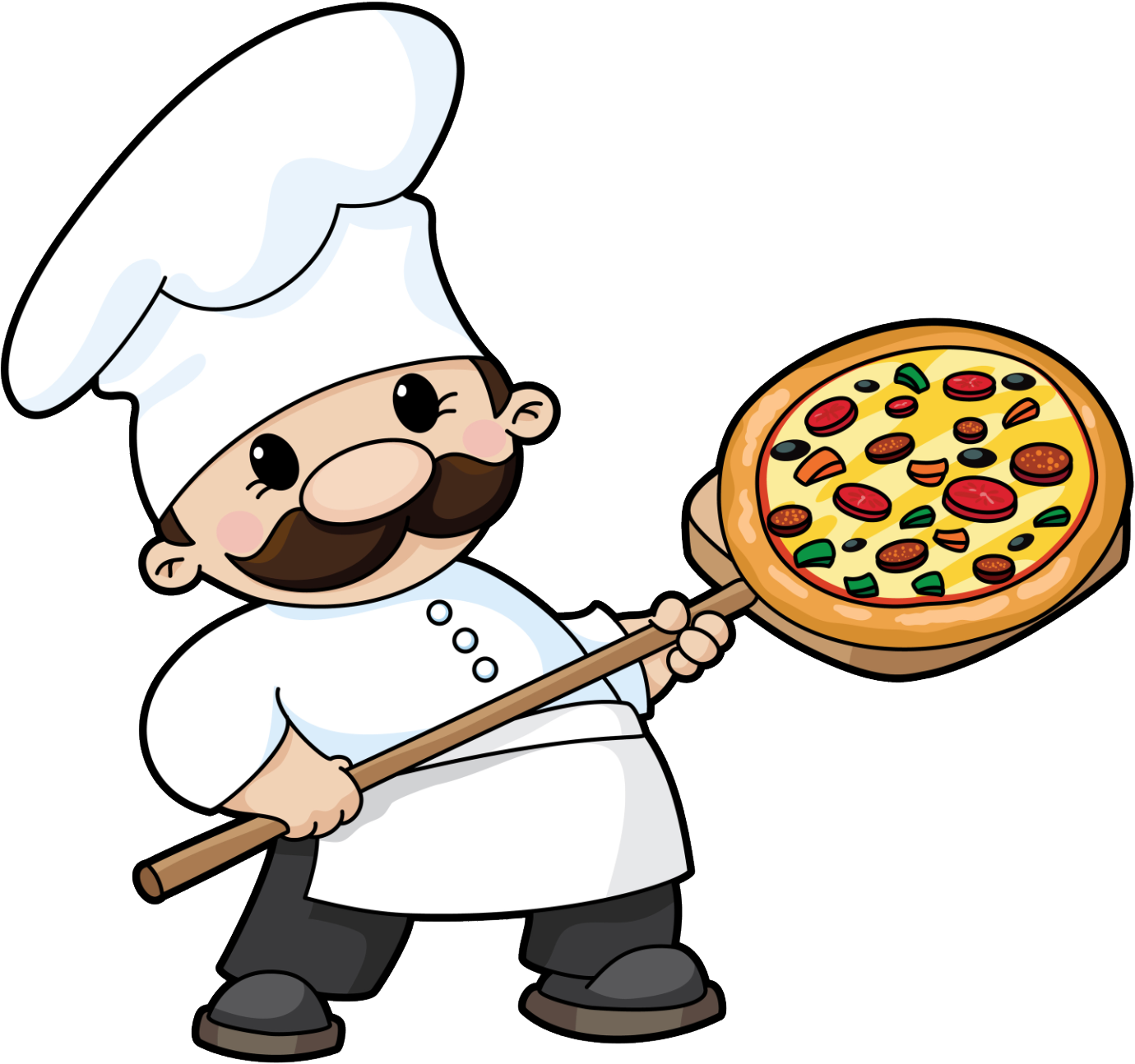 collection of pizza. Make clipart cooking