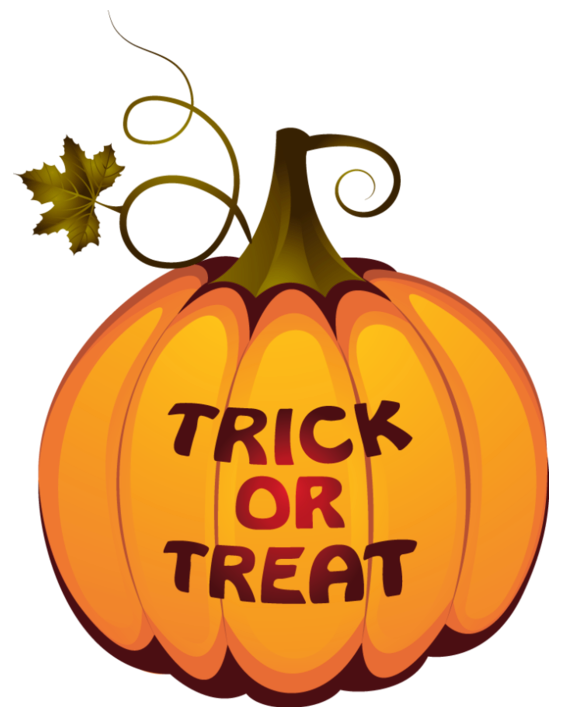 Halloween clipart treat. Transparent trick or pumpkin