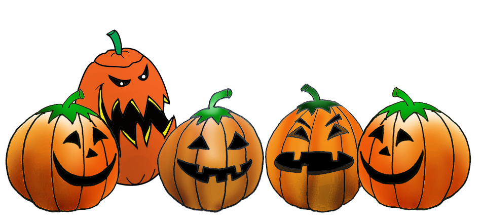 collection of pumpkin. Witch clipart border
